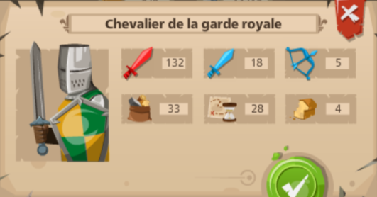 goodgame empire Chevalier de la garde royale